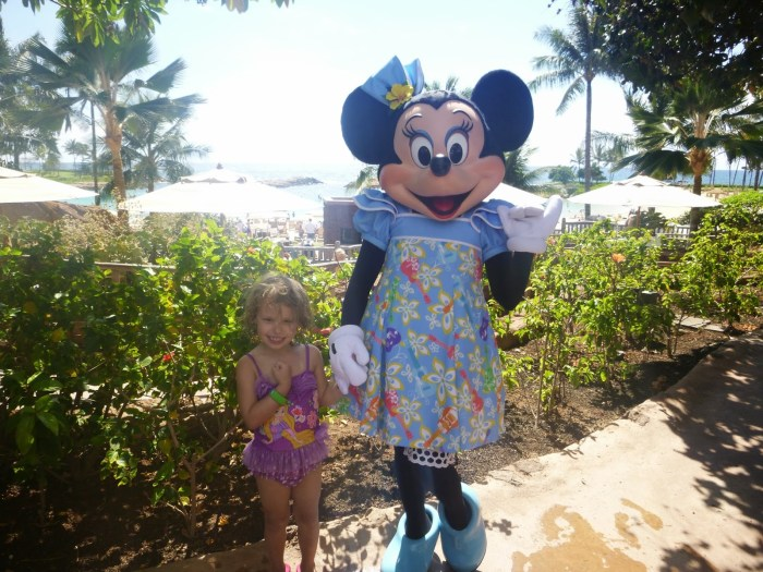 Hanging loose with Minnie Mouse at Aulani