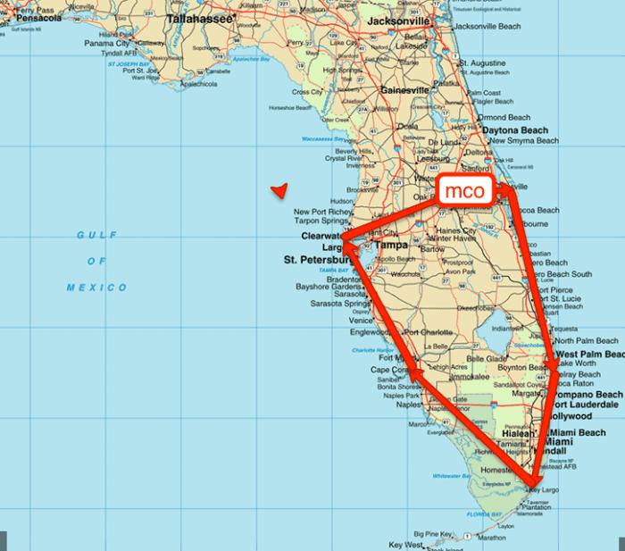 florida road trip map