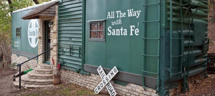 Santa Fe Railroad Car. Photo courtesy of Country Woods Inn.
