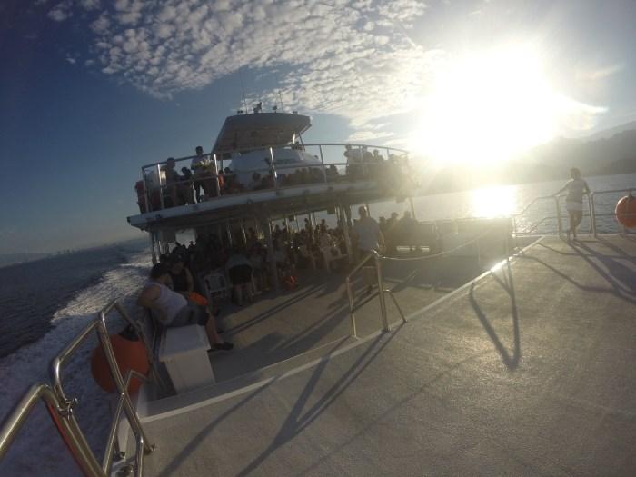 The boat to Las Caletas