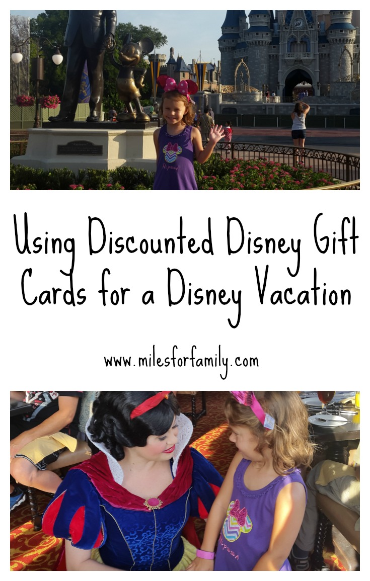 Using Discounted Disney Gift Cards for a Disney Vacation - Miles ...