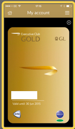 Electronic BA Gold Card