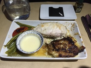 AA A321 Business Class meal