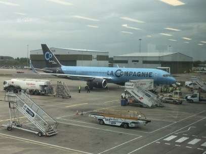 La Compagnie plane at Luton