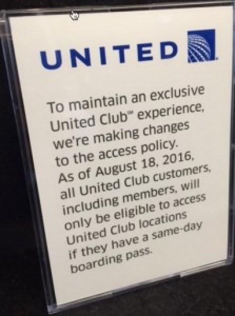 United Club Signs