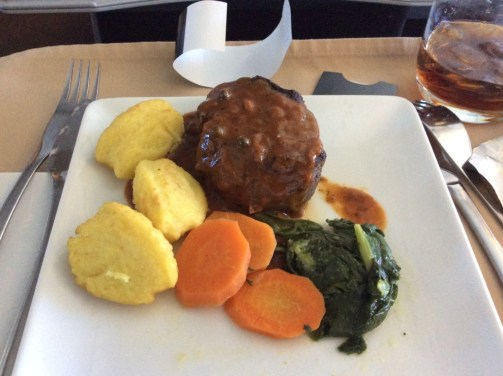 American Airlines international meal DUB-JFK Business Class
