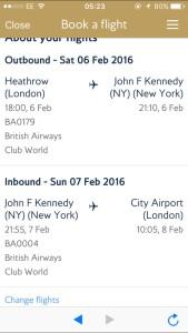Confirm flights New York