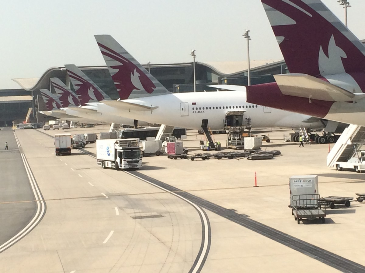 Qatar Airways' Al Mourjan Business Class lounge in Doha