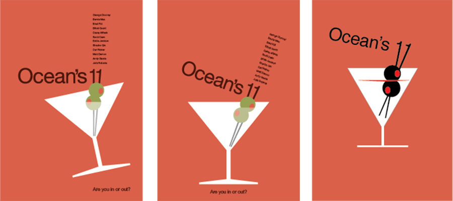 ocean s eleven design process from