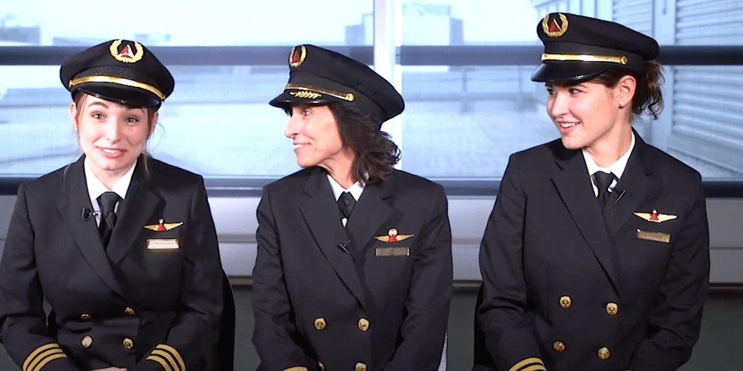 Wendy Rexon and her two daughters Kate Rexon and Kelly Jacobson are all pilots for Delta Airlines.