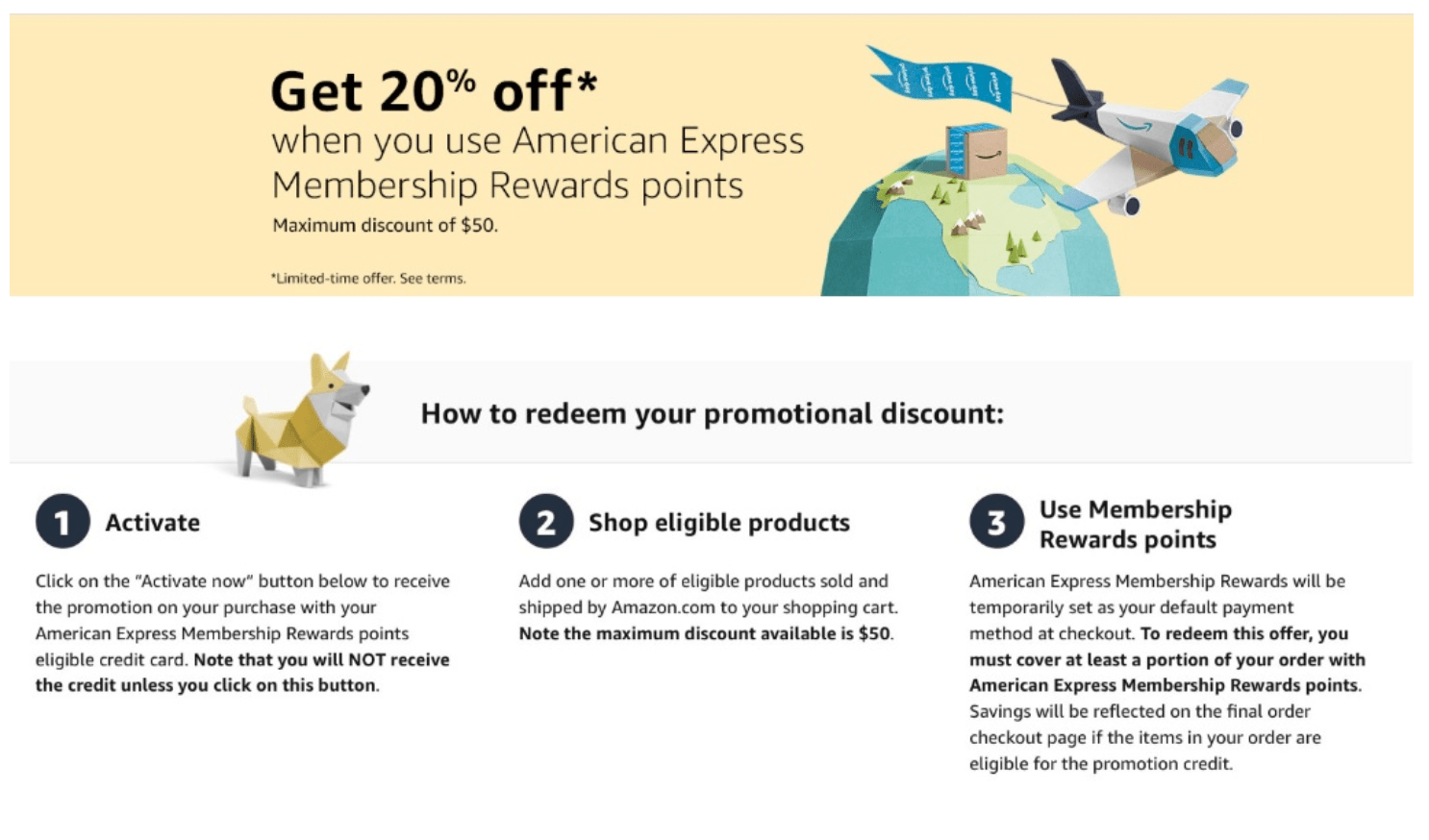 American Express and Amazon target shoppers to get 20% discount on Amazon.