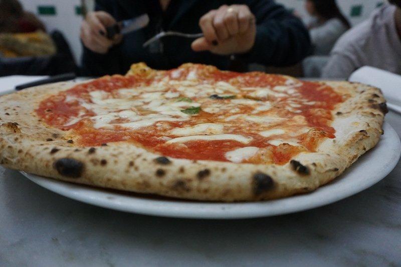 Naples Pizza Close up
