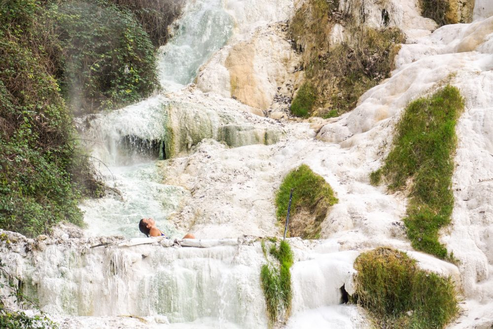 Soaking in the Fosso Bianco Hot Spring in Tuscany