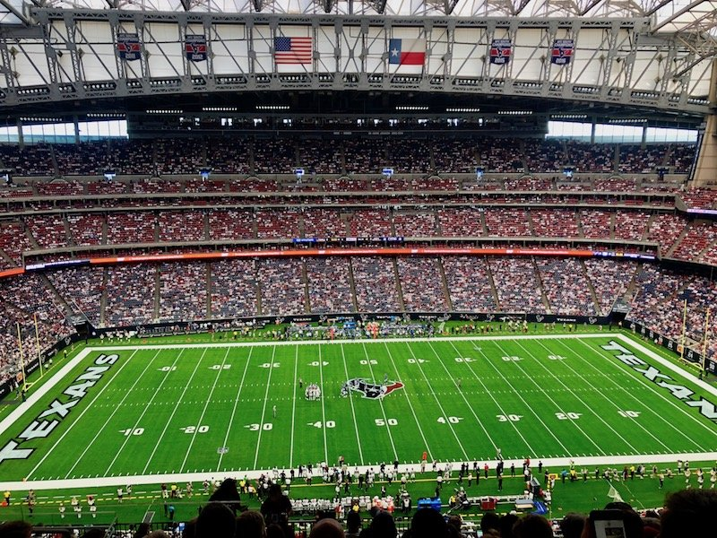 Houston Texans NFL Stadium Field and Fans