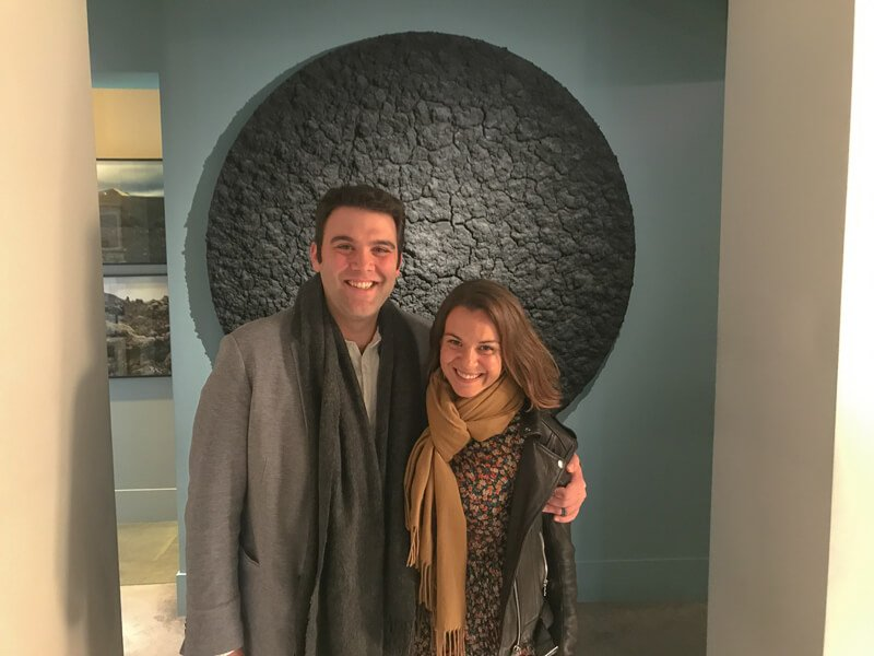 Why visit Florence? One reason is to eat here. Couple standing in osteria francescana
