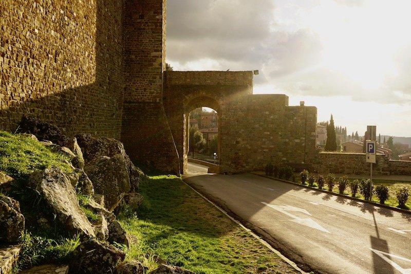 Tuscany sunset fortress