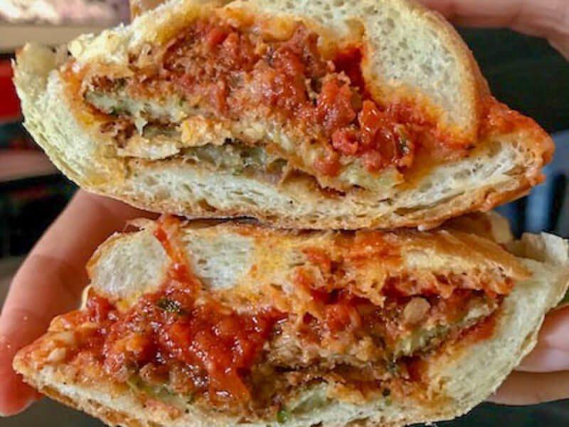 Chicken parm sandwich from Village Trattoria in Maplewood NJ