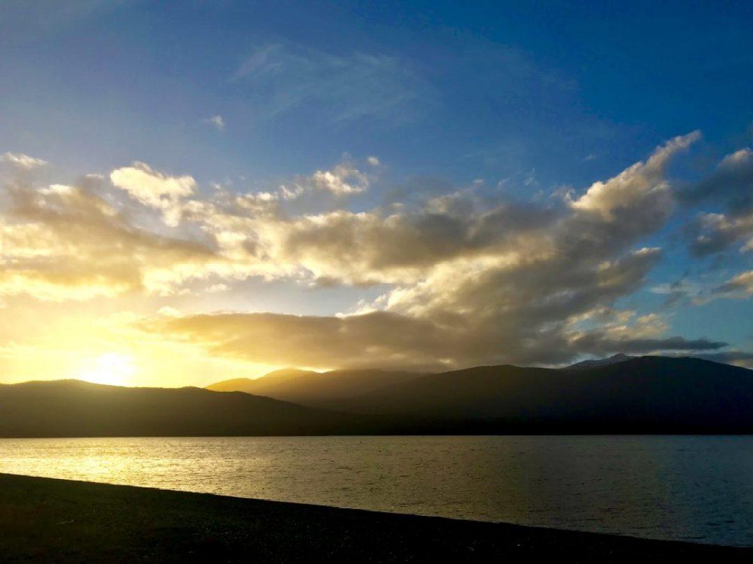 Sunset at Lake Te Anau