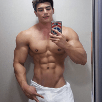 Cameron takes a picture every day at the gym before he gets in the shower. I wish I had pictures of Cameron while he's in the shower!