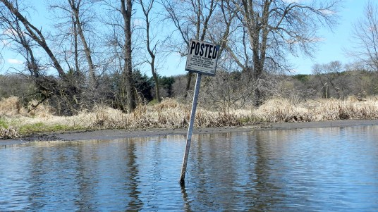 What, the water behind the sign is Private Property?