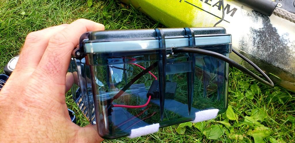 Installing a depth finder on a kayak