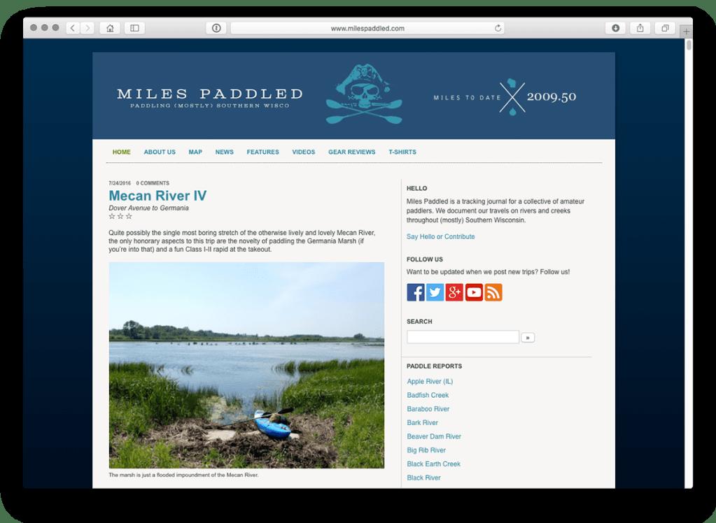 Miles Paddled 2011-2016