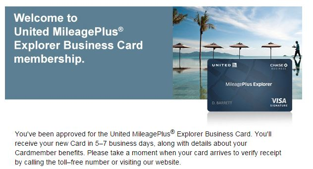 Chase united business followup and another chase offer miles per day its been a long 5 weeks since i had applied for the chase united business card then about a week ago i had to call reconsideration to ask about the colourmoves