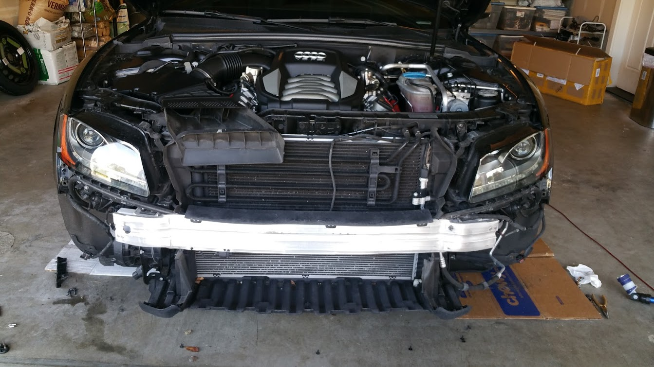 Changing The Front Grill On My Audi S5 Miles Per Day