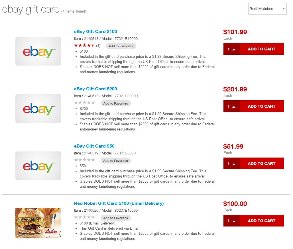 Staples Removes Ebay Electronic Gift Cards From Their Site And Wtf Is Going On Miles Per Day
