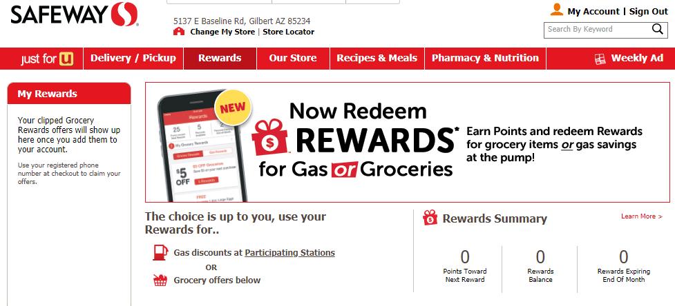 Redeem Safeway