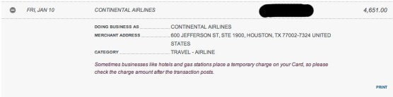 Good old Continental Airlines