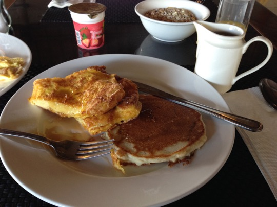 French Toast and Pancakes for breakfast