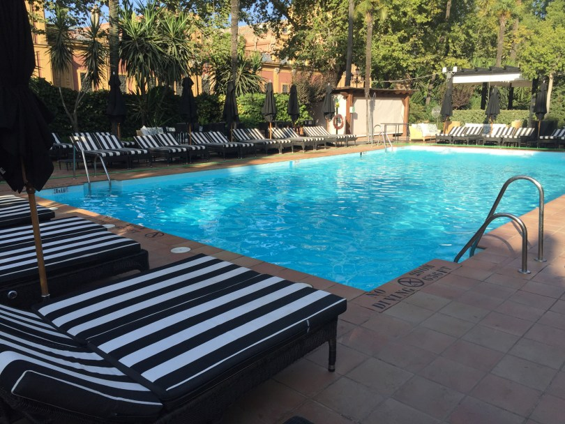 This fantastic pool area made 100 degree days quite a bit nicer