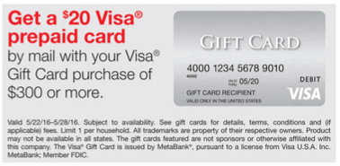 staples visa gift card rebate staples visa gift card deal earn a profit 5x points 5030