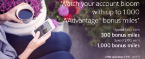 AAdvantage Spending Bonus