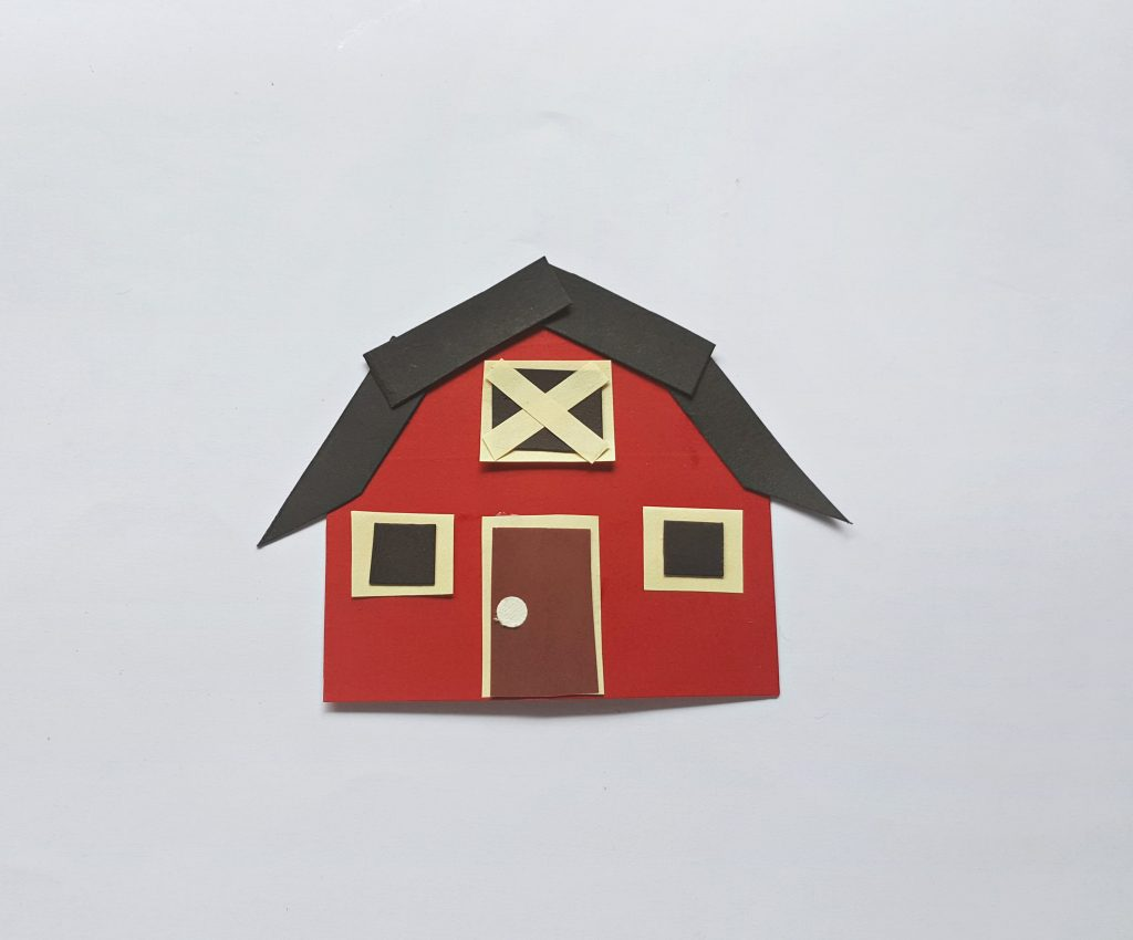 Thanksgiving is one of everybody's favorit. Paper Farm House Craft For Kids Milestone Mom
