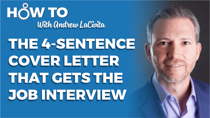 The 4 Sentence Cover Letter That Gets You The Job Interview