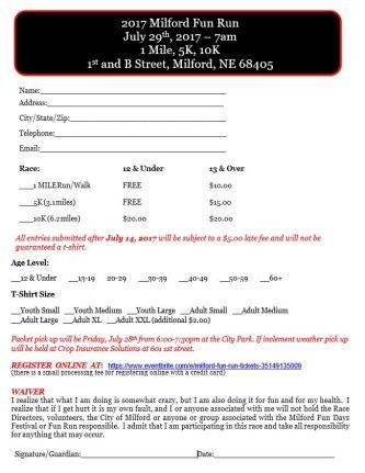 Fun Run Registration