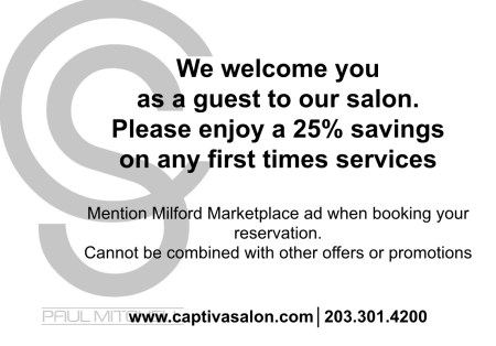 Captiva Salon 25% savings on first time services