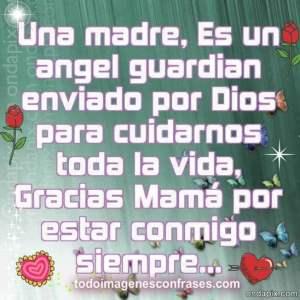imágenes con frases una madre es un angel guardian
