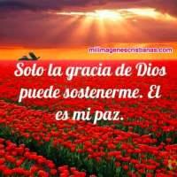 Imágenes cristianas: Solo la gracia de Dios puede sostenerme