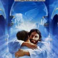 Imágenes cristianas de JESÚS abrazando a un hombre