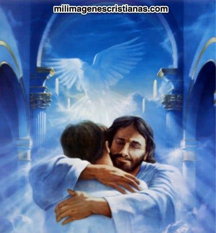 jesus abrazando un hombre