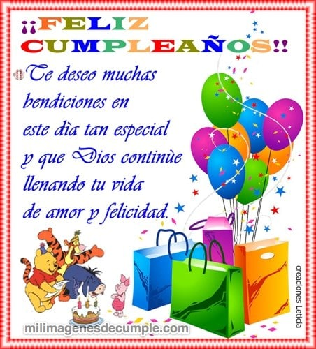 imágenes de feliz cumpleaños te deseo muchas bendiciones