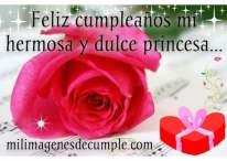 Image de feliz cumpleaños mi hermosa y dulce princesa