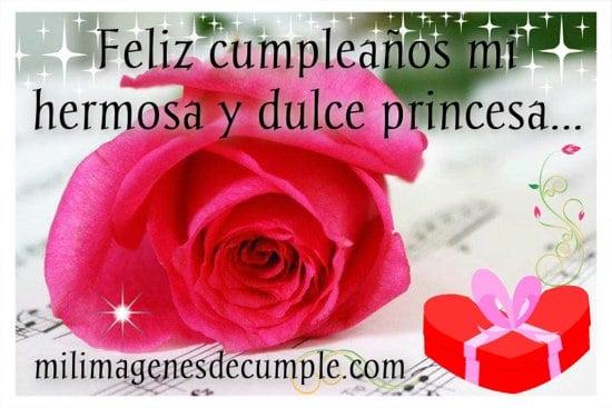 feliz cumpleaños mi hermosa y dulce princesa