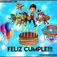 Imágenes de cumpleaños con Paw Patrol