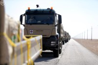 "Qatar Emiri Land Force MAN TGA trucks heading for ""Northern Thunder"""