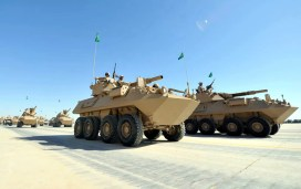 "Saudi Arabian National Guard LAV II AMS during ""Northen Thunder"""
