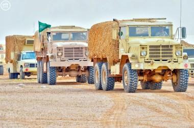 "Royal Saudi Land Force M923A2 trucks during ""Northern Thunder"""